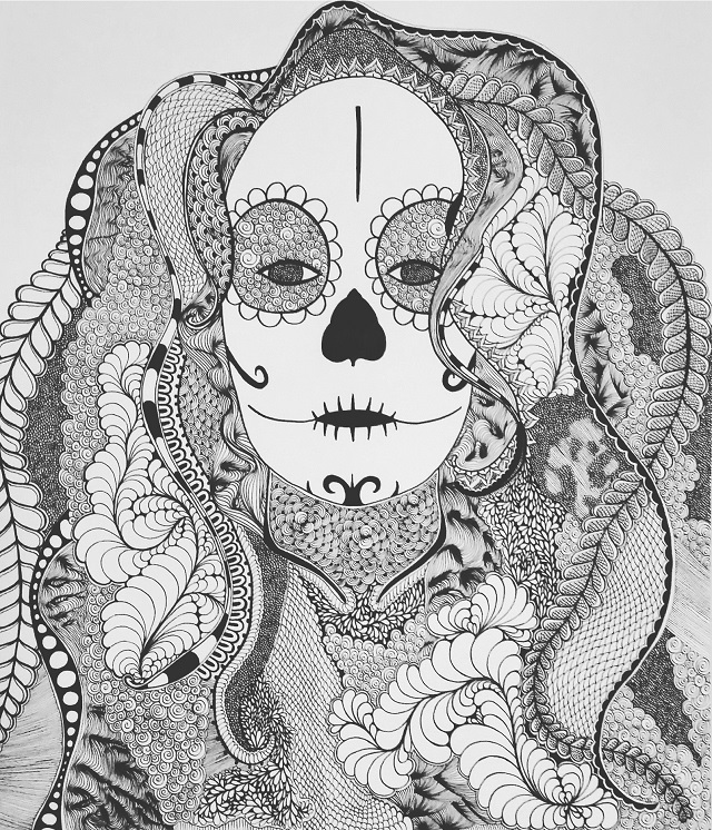 art self-portrait candyskull